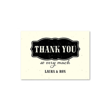 Seeded Paper Wedding Thank you cards ~ Old West