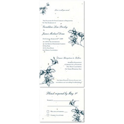 Plantable Wedding Invitations - Tropical Orchids (seeded paper)
