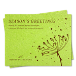 Green Corporate Holiday Cards ~ Organic Floral by Green Business Print