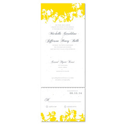 Unique Wedding Invitations - Organic Yellow (Send and sealed format)