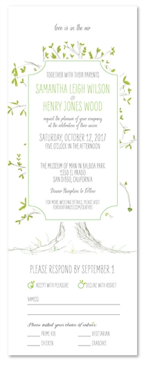 Send n Sealed Wedding invitations on 100% Recycled Paper | Our Tree