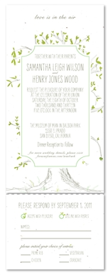 Send n Sealed Wedding Invitations - Our Tree (nature's green)