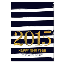 Striped New Year Holiday Cards | Painted Stripes (100% recycled paper)