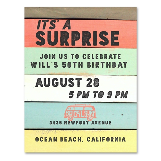 Surf Theme Invitations | Palisades California