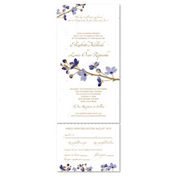 Send N Sealed Invitations on seeded paper | Passionate Blossoms (100% plantable)