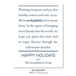 Thankful message business holiday cards | Peace Message by Green Business Print