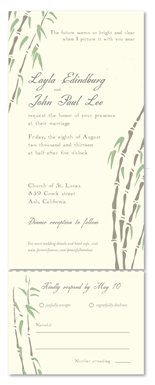 Send n Sealed Wedding Invitations - Peaceful Bamboo (100% recycled paper)