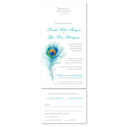 Unique Wedding Invitations ~ Peacock Feather