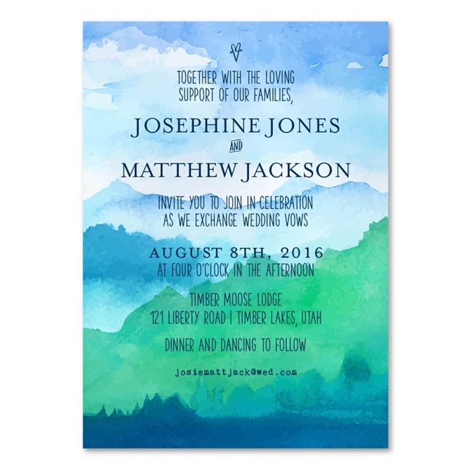 Outdoor Wedding Invitations On 100 Recycled Paper The Peak By