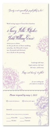 Send n Sealed invitations ~ Peonies in Wonderland