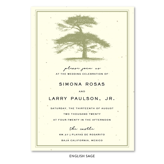 Tree themed Wedding Invitations ~ Pine Gap