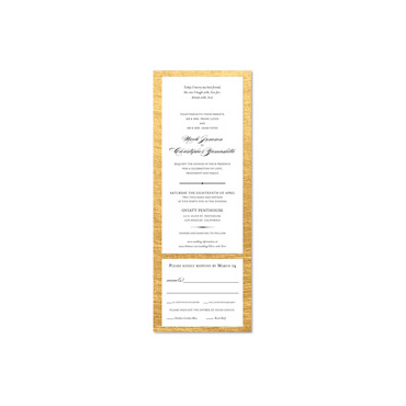 Golden Border Wedding Invitations | Polished Gold (100% recycled paper)