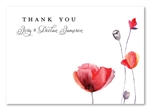 Poppies Thank you cards by ForeverFiances Weddings