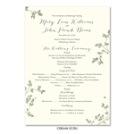 Unique Wedding Programs - Pretty Leaves (Deep Purple)