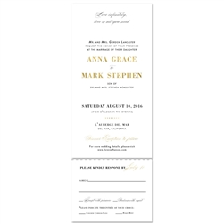 Elegant Script Wedding Invitations | Private Affair (100% recycled paper)