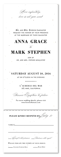 Elegant Script Wedding Invitations | Private Affair