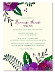 Flower Bat Mitzvah Invitations | Purple Petals