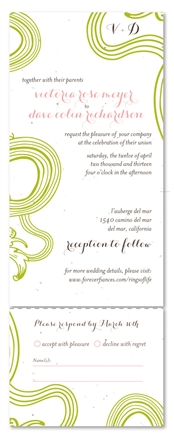 All in One Wedding Invitations ~ Rings of Life