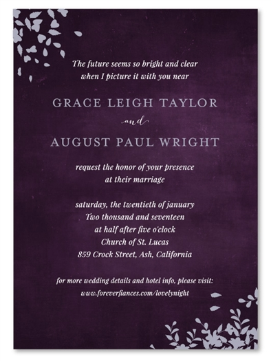 Black Tie Wedding Invitations | Romance