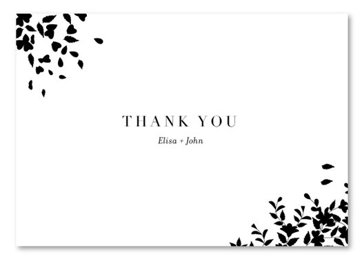 Black Tie Thank you cards | Romance