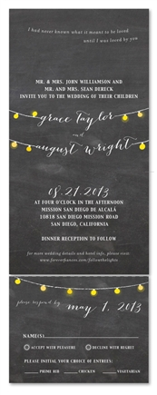 String of Lights Wedding Invitations | ForeverFiances