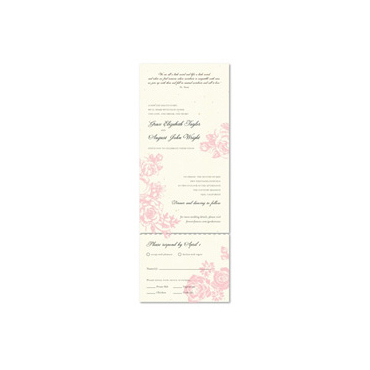 Send n Sealed Invitations ~ Rose Garden (100% recycled)