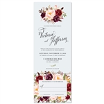 Red flowers bohemian Wedding Invitations | Rose wood