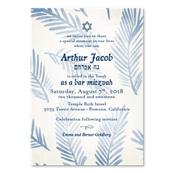 Sukkot Palms Bar Mitzvah Invitations | Sacred Palms