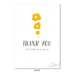 Plantable Thank you notes | Seed to Flower