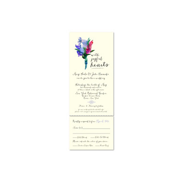Flowers Bouquet Wedding Invitations - Sentimental