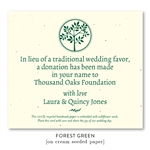 Donation card Wedding Favors ~ Shalom Tree of Life (wildflowers seeded paper)