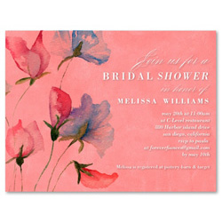 Unique Bridal Shower Cards - Sketched Wildflowers (100% recycled paper)