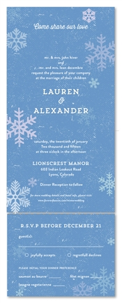 Seal and Send Wedding Invitations - Snow Fall