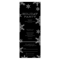 Winter Holiday Party Invitations | Snow Soiree *black tie