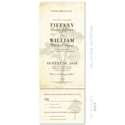 Vintage Wedding Invitations | Solid Oak (100% recycled paper)
