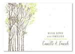 Tree Wedding Thank you cards | Southern Trees (Chocolate Brown)