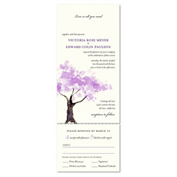 Spring Blooms Tree watercolor | Seal and send wedding invitations