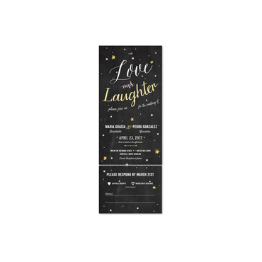 All in One Wedding Invitations Send And Seal Wedding Invitations