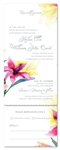 lily Watercolor wedding Invitations lilies