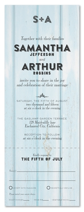 Country Shabby Chic Wedding Invites ~ Sundried Boards (100% recycled paper)
