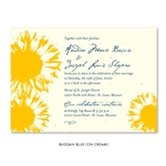 Sunflower Wedding Invitations with bright yellow sun flower