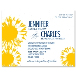 Plantable Wedding Cards ~ Sunflower (seeded paper)