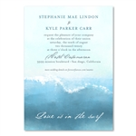 Surf Wedding Invitations watercolor - Swamis Wave by ForeverFiances