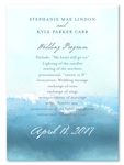 Surf theme Wedding Programs Swamis by ForeverFiances