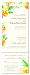 Sweet Blooms Watercolor wedding Invitations