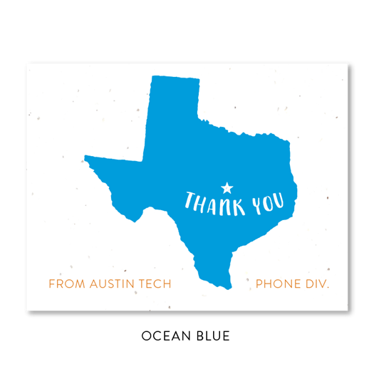 Texas Theme Thank you notes | seeded paper Texas Austin