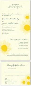 Natural Wedding Invitations ~ Sunflower/Tournesol