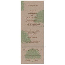 NY Wedding Invitations ~ Upstate NY (100% Recycled Paper)
