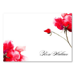 Rose Thank you cards | Valentino Rose