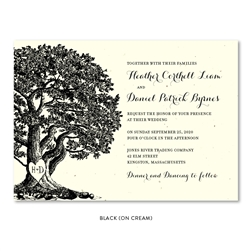 Oak Tree Wedding Invitations | Vieux Oak